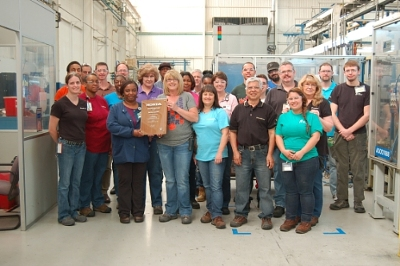 Employees From BorgWarners Manufacturing Facility In Seneca South Carolina Proudly Display Their Latest Excellence Quality Award Honda North